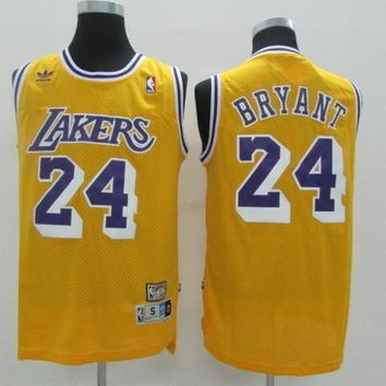 La Lakers #24 Kobe Bryant Yellow Retro Swingman Jersey | Best Deal Online