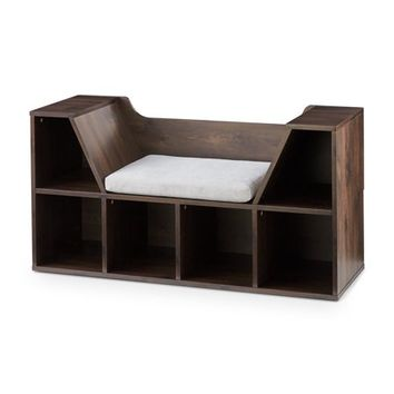 Mainstays Kids Reading Nook and Storage Book Case, Dark Chestnut - Walmart.com