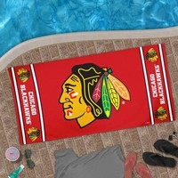 "Chicago Blackhawks 30"" x 60"" Logo Beach Towel - Red"
