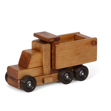 Wooden Truck Small Dumptruck Traditonal Toys for Kids