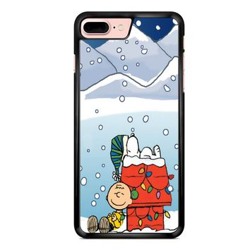 Charlie And Snoopy Brown Christmas iPhone 7 Plus Case