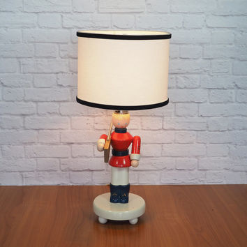Vintage Nursery Lamp / Irmi Nursery Originals Wooden Soldier Boy Lamp