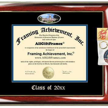 AllGiftFrames Custom Diploma Frame Drake Embossed Best Drake University Graduation Degree Frame Double Mat Campus Fisheye Picture Frame Cheap Degree Certificate Graduate Gift