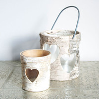 Birch Wooden Candle Holders