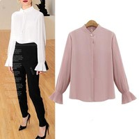 Plus Size Women's Fashion Tops Summer Long Sleeve Loudspeaker [39676706842]