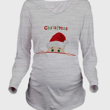 Baby's First Christmas Maternity Tee - 2 styles