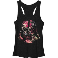 Star Wars Vader Floral Helm Tank Juniors T-Shirt Licensed