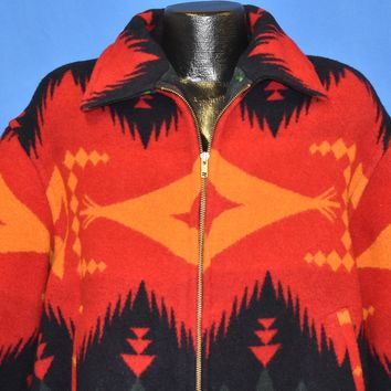 90s Gallery Aztec Print Wool Winter Jacket Large