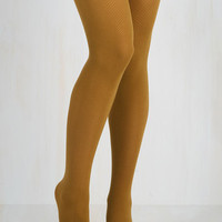 Root of the Flatter Tights in Goldenrod Size OS by ModCloth