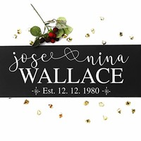 CHRISTMAS GIFT Personalized Family Name Established Sign includes Hanging Hardware - Great Christmas, Housewarming or Wedding Gift #F02