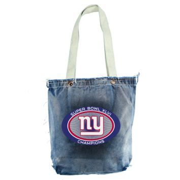 New York Giants Super Bowl XLVI Champions Ladies Vintage Shopper Bag