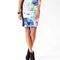 Spring Panel Bodycon Skirt