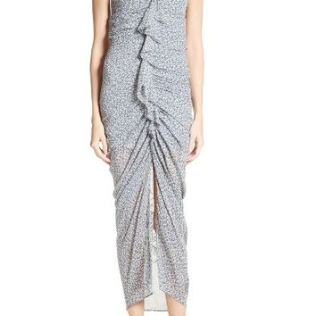 Veronica Beard Wallflower Print Silk Strapless Dress | Nordstrom