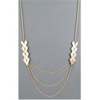 WNE681ES Draped Chain Metal Hearts Necklace and Womens Necklace - Make Me Chic