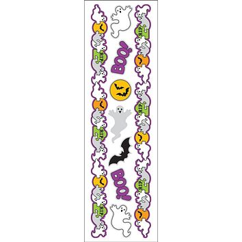 Hambly Iridescent Foil Border Stickers, Halloween Ghosts (25 Sheets)