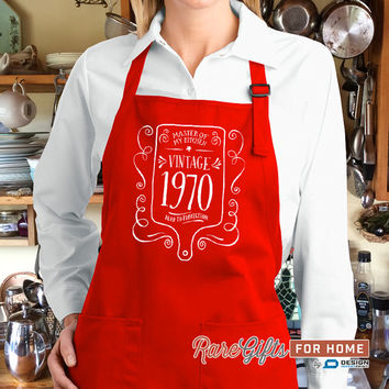 45th Birthday, 1970 Birthday, Full Length Apron, 45th Birthday Idea, 45th Birthday Present, 45th Birthday Gift,  For The Lucky 45 Year Old!