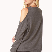 Chain-Trim Cutout Sweatshirt