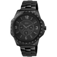 JBW Men's J6254A Royale Multi-Function Black Ion-Plated Diamond Watch