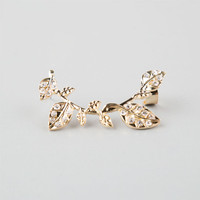 Full Tilt Leaf/Vine Ear Cuff Gold One Size For Women 25143262101