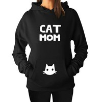 2018 Fashion Cat Mom Letter Print Hoodies Women Sweatshirt Harajuku Black Tumblr Funny Plus Size Aesthetic Shirt Coat Tops