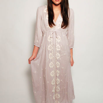 Free People Azalea Maxi Dress - Dove Grey