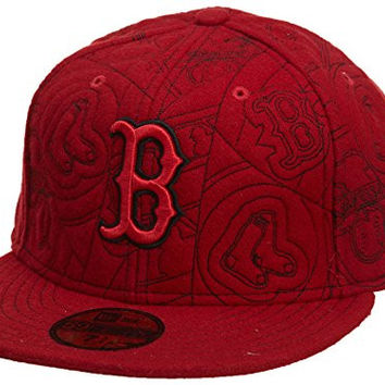 New Era Boston Red Sox Fitted Hat Mens Style: HAT288-RED Size: 7.875
