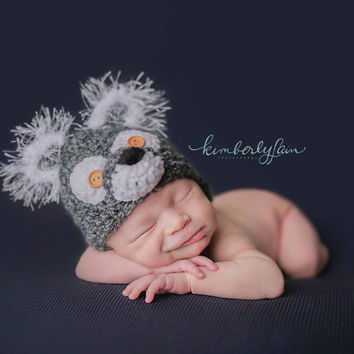 Wolf Hat, Big Bad Wolf, Great Shower Gift, Newborn to 6 Months, Photography Prop, Photo Prop