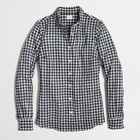 Factory classic button-down shirt in suckered gingham : Washed Shirts | J.Crew Factory