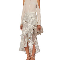 Zimmermann Lace-Up Embroidered Skirt - INTERMIX®