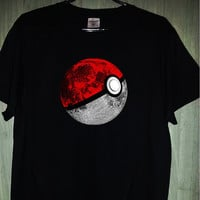 pokeball t-shirt pokemons star wars galaxy cosmos black and white, men's and women's gift present