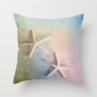 Starfish Throw Pillow by ALLY COXON | Society6