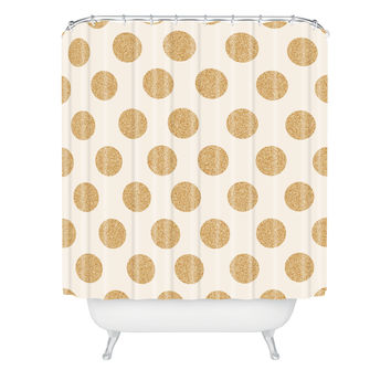 Allyson Johnson Gold Dots Shower Curtain
