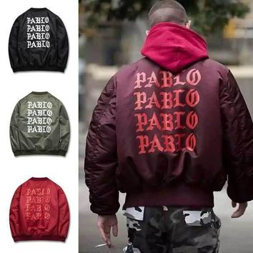 Mens Winter Jackets And Coats Padded Pablo Jacket Kanye High Street Ma1 Bomber Jacket Windbreaker