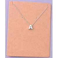 Dainty Silver Initial Necklace