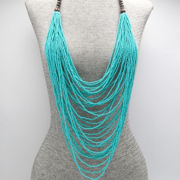 Bermuda Resort Layered Blue Necklace Set