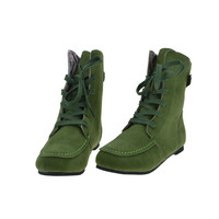New Fashion Women's Suede Leather Boots Ankle Motorcycle Boots Lace-Up Flats Shoes