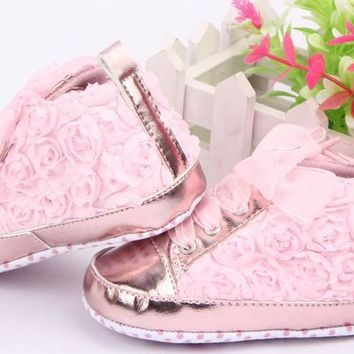 Baby Shoes Toddler Rose Soft Sole Girl 3 Colors