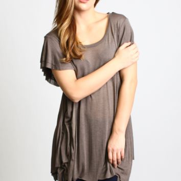 Short Sleeve Oversized Tunic