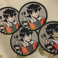 KEITH IS 18 EMBROIDERED PATCH