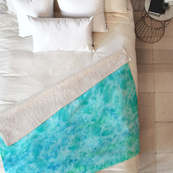 Rosie Brown Sparkling Sea Fleece Throw Blanket
