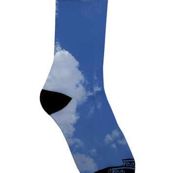 Clouds All Over Adult Crew Socks All Over Print