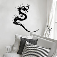 Wall Decals Dragon Decal Vinyl Sticker Bathroom Kitchen Window Car Bedroom Home Decor Hall Room Dorm Interior Art Murals MN528