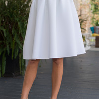 Pleats And Thank You Skirt, White
