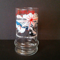 Vintage Star Trek III The Search for Spock Enterprise Destroyed Glass Taco Bell Paramount Pictures 1984