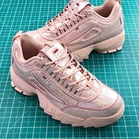 Fila Disruptor Ii 2 Pink Shiny Fashion Shoes - Best Online Sale