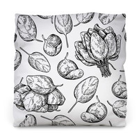 Baby Spinach Throw Pillow