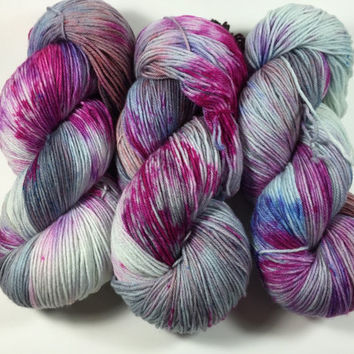 MCN, Pampered Sock, 100 grams, Hand Dyed yarn, cashmere, nylon, superwash merino, sock yarn, Hour By Flower