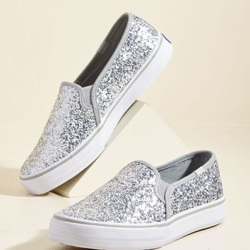 'Til the Glitter End Slip-on Sneaker | Mod Retro Vintage Flats | ModCloth.com