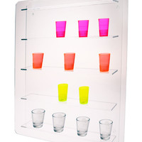 24 Shot Glass Wall Mount Display Case
