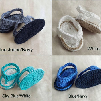 e84710413 Crochet Baby Sandals NB-9 Month Crochet Baby Boy Girl Sandals